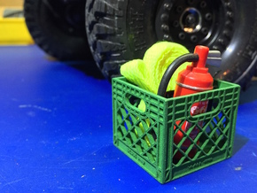 Milk Crate 1:10 Scale in Green Processed Versatile Plastic