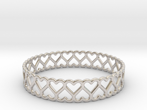 The Bracelet of Hearts in Platinum
