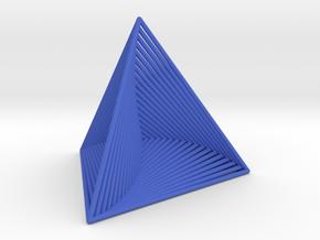 0046 Tetrahedron Line Design (5 cm) #001 in Blue Processed Versatile Plastic