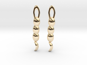 Sailor Moon Earrings in 14k Gold Plated Brass