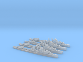 Farragut class destroyer (1/2400) x4 in Smooth Fine Detail Plastic