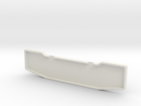 Front Bumper For Revell 1/25th scale Model truck. in White Strong & Flexible