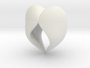 Heartful in White Natural Versatile Plastic