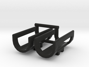 1/64 Saddle Tank Cradles in Black Natural Versatile Plastic