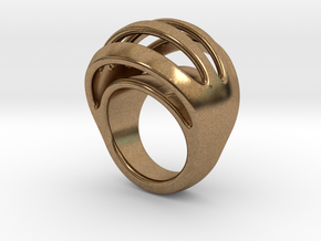 RING CRAZY 24 - ITALIAN SIZE 24 in Natural Brass