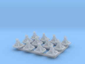 6mm Mortars (x12) in Smooth Fine Detail Plastic
