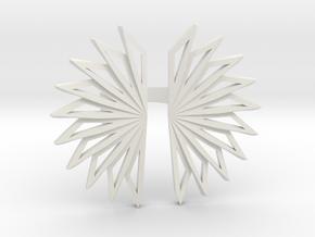 Fan Ring in White Natural Versatile Plastic