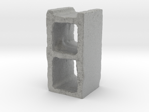 Cinder Block in Metallic Plastic