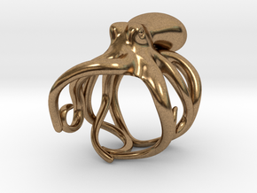 Octopus Ring 16mm in Natural Brass