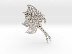 Flittering fairy in Rhodium Plated Brass