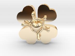 LuckyLoveSplash in 14k Gold Plated Brass