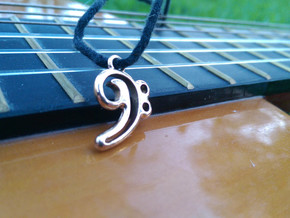 Fa Note Pendant in Polished Bronze