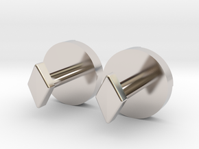 Shield Knot cuff links in Rhodium Plated Brass
