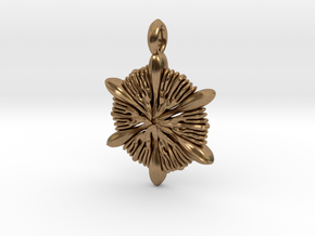 Astrocyathus pendant in Natural Brass