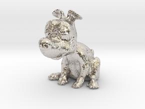 PupCharm in Rhodium Plated Brass