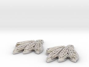 Blackhawks Earrings in Rhodium Plated Brass