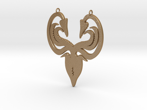 Greyjoy Pendant in Matte Gold Steel