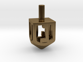 Dreidel (Spinner) in Raw Bronze