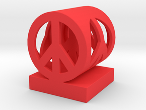 Peace on Peace Small in Red Processed Versatile Plastic