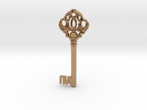 Bank Vault Key in Polished Brass