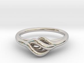 Twist Ring in Rhodium Plated Brass