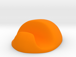 Phone stand in Orange Processed Versatile Plastic