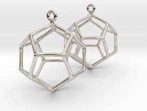 Heaven earrings in Rhodium Plated Brass