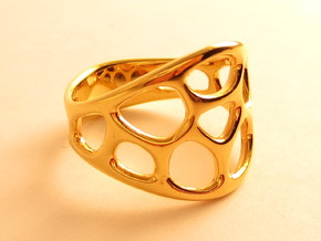 Cell Ring in 18k Gold Plated Brass: 7 / 54