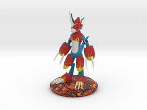 Flamedramon Sculpture (18 Cm Tall) in Full Color Sandstone