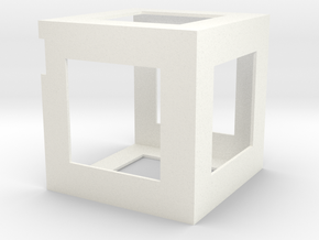 PocketQube Micro-Satellite Frame in White Processed Versatile Plastic
