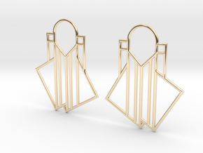 A Little Off-Center Earrings in 14k Gold Plated Brass