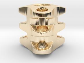 Triple Tritium Bead 1 (2.5x10mm Vials) in 14k Gold Plated Brass