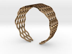 Mesh Bracelet - Large in Natural Brass