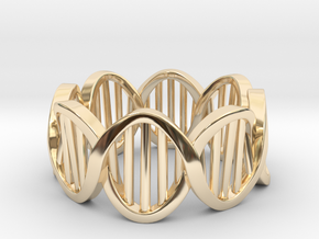 DNA Ring (Size 11) in 14k Gold Plated Brass
