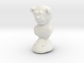 Chimpy in White Natural Versatile Plastic