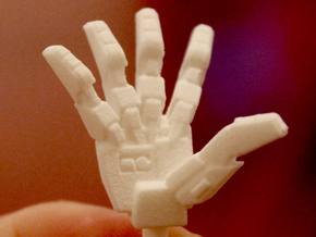 VF-1 Valkyrie Hands - A-Set in White Processed Versatile Plastic
