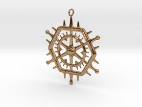 Pentagon Circle in Polished Brass
