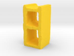Cinder Block in Yellow Processed Versatile Plastic