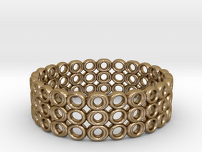 Ring Bracelet in Polished Gold Steel