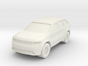 SUV At N Scale in White Natural Versatile Plastic