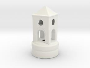 Belltowertoprint in White Natural Versatile Plastic