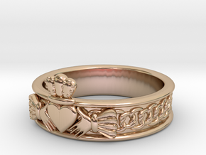 Keltic Designs MODEL Size 6 in 14k Rose Gold Plated Brass