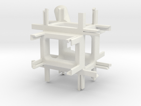 GoPro 3+ 360 Mount in White Natural Versatile Plastic
