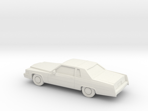 1/87 1977 Cadillac De Ville Coupe in White Natural Versatile Plastic