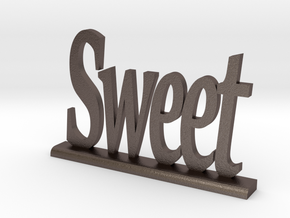 "Letters 'Sweet' 7.5cm / 3.00"" in Polished Bronzed Silver Steel"