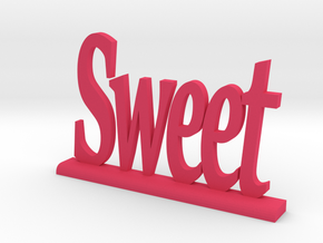 "Letters 'Sweet' 7.5cm / 3.00"" in Pink Strong & Flexible Polished"