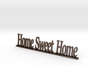 """Letters 'Home Sweet Home' 7.5cm / 3.00"""" in Polished Bronze Steel"""