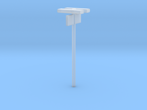 DSB Stations lampe med perronafsnit (dobbelt) VIA  in Smooth Fine Detail Plastic