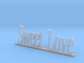 """Letters 'Sweet Love' - 7.5cm - 3"""" in Smooth Fine Detail Plastic"""