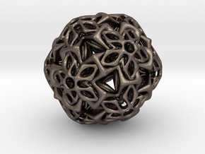 BRO ICOSAHEDRON A1 PENDANT in Polished Bronzed Silver Steel